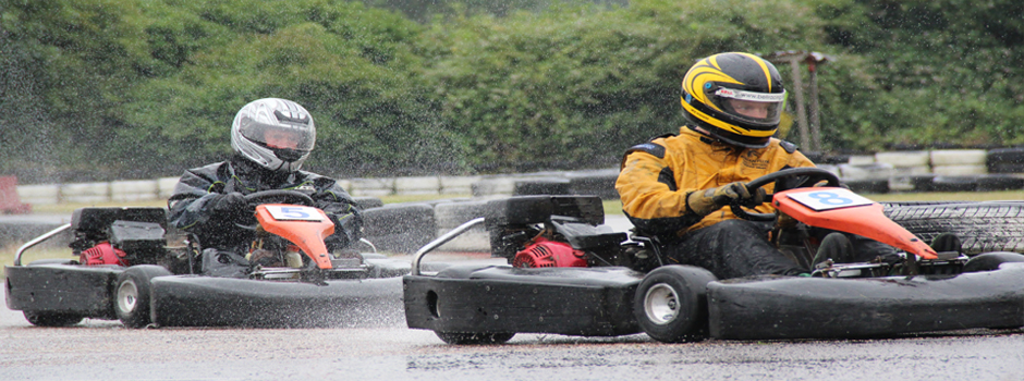 Come rain or shine - We are always racing at Anglia Karting